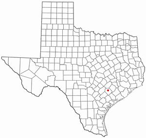 Hallettsville, Texas - Image: TX Map doton Hallettsville
