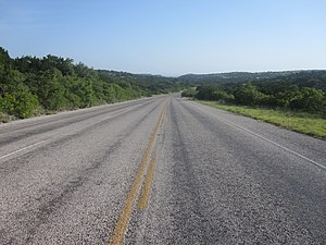 Texas State Highway 208 - Texas Highway 208 north of San Angelo