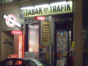 Cigarette - Tabak-Trafik in Vienna: Since 1 January 2007, all cigarette machines in Austria must attempt to verify a customer's age by requiring the insertion of a debit card or mobile phone verification.