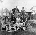 Tableau, kid, hobby horse, doll, toy, chair, family Fortepan 11297.jpg