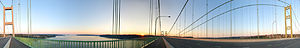 Tacoma Narrows Bridge - Image: Tacoma Narrows Bridge Panorama