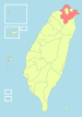 Location of Taipei County in Taiwan