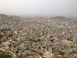 Taiz city from AlQahirah Castle.jpg