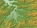 Takayama Basin Relief Map, SRTM-1.jpg