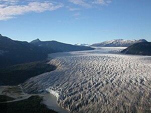Taku Glacier - Taku Glacier at the glacial snout