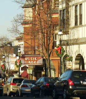Tarrytown, New York - Main Street, showing the Music Hall