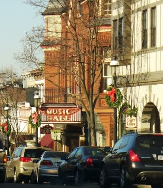 Tarrytown, New York - Main Street, showing the Music Hall