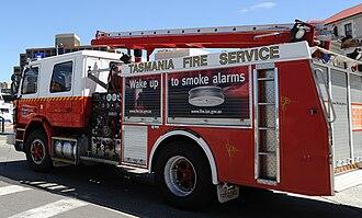 Tasmania Fire Service - A Tasmania Fire Service truck.