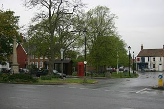 Tattershall village in the United Kingdom