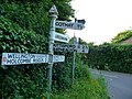 Taunton Deane , Signpost and Road - geograph.org.uk - 1332698.jpg