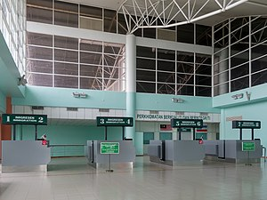 Tawau Airport - Immigration counters