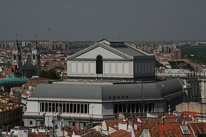Vista aerea del Teatro Real de Madrid