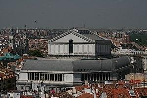 Vista aerea del Teatro Real de Madrid