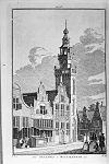 tekening van het stadhuis te monnickendam 1726 - monnickendam - 20159997 - rce