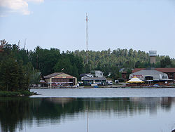 Temagami on the shores of Lake Temagami.