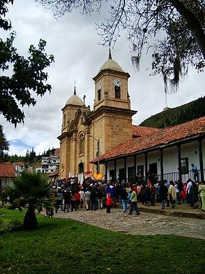 Cucunubá - Image: Templo Parroquial del Divino Salvador 1