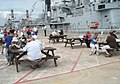 Temporary picnic area alongside HMS Gloucester - geograph.org.uk - 900597.jpg
