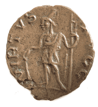 Virtus (deity) - Gallic coin featuring Virtus
