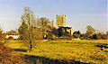 Tewkesbury Abbey, from SW - geograph.org.uk - 1724373.jpg