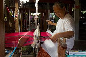 Thai silk - Weaving Thai silk, Surin Province