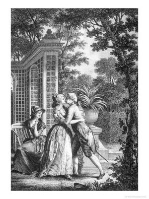 "Maria: or, The Wrongs of Woman - ""The First Kiss of Love"", from Rousseau's Julie, or the New Heloise (1761), illustrated by Nicolas-André Monsiau"