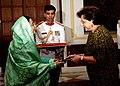 The Ambassador of European Commission to India, Ms. Daniele Smadja presented her credentials to the President, Smt. Pratibha Devisingh Patil at Rashtrapati Bhavan in New Delhi on September 26, 2007.jpg