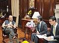 The Ambassador of Japan to India, Mr. Takishi Yagi meeting the Union Minister for Finance, Corporate Affairs and Information & Broadcasting, Shri Arun Jaitley, in New Delhi on November 23, 2015.jpg