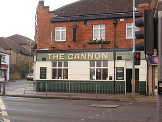 Low Fell - The Cannon Inn circa 2012. In the formative development of the settlement this pub was a major social focal point.
