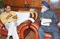 The Chief Minister of Punjab, Shri Prakash Singh Badal meeting the Union Minister for Railways, Shri Suresh Prabhakar Prabhu, in New Delhi on February 12, 2015 (1).jpg