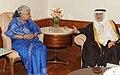 The Culture and Information Minister of Saudi Arabia, Mr. Abdulaziz bin Mohiddin Khoja meeting the Union Minister for Culture, Smt. Chandresh Kumari Katoch, in New Delhi on February 27, 2014.jpg