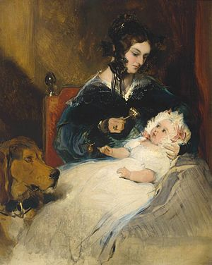 Louisa Hamilton, Duchess of Abercorn - Image: The Duchess of Abercorn and Child by Sir Edwin Henry Landseer (1802 1873)