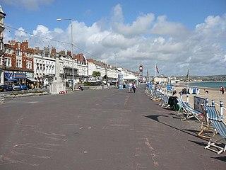 The Esplanade, Weymouth street in Weymouth, United Kingdom