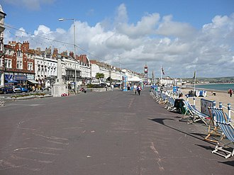 The Esplanade, Weymouth - The Esplanade, Weymouth looking towards Jubilee Clock