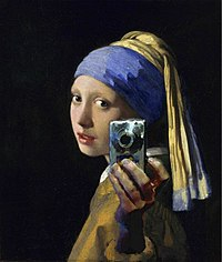 The Girl With The Pearl Earring modern alteration Selfiegirl.jpg