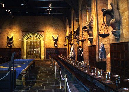 The studio film set of The Great Hall of Hogwarts was one of the first sets ever created for the series. The Great Hall, Hogwarts.jpg