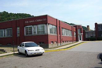 The Hall China Company - The Hall China Company visitor entrance.