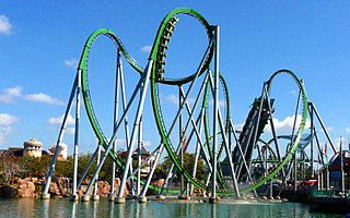 The Incredible Hulk Coaster Roller coaster at Islands of Adventure
