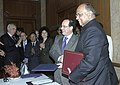 The Italian Minister for Agriculture, Food and Forestry, Mr. Palo De Castro and the Union Minister of Consumer Affairs, Food and Public Distribution and Agriculture.jpg