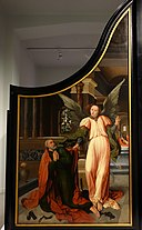 The Liberation of Saint Peter (left) and Saint Margaret of Antioch (right), by Jan Rombouts I, c. 1522-1530, view 2 - Museum M - Leuven, Belgium - DSC05096.JPG