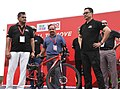 The Minister of State for Home Affairs, Shri Kiren Rijiju flagged off the Cyclothon event, as a run up to the Move Summit by the NITI Aayog, in New Delhi.JPG