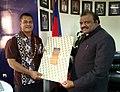 The Minister of State for Tribal Affairs, Shri Jaswantsinh Sumanbhai Bhabhor calling on the acting Prime Minister of Samoa, Mr. Afamasaga Lepuiai Rico Tupa'i, in Samoa on May 21, 2018 (1).JPG