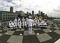 The Navy Region Northwest Band performs during the last week of the month-long Seattle Sea Fair parade of ships.jpg