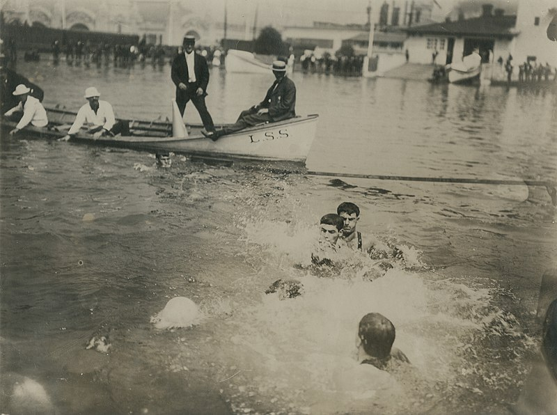 File:The New York and Chicago Water Polo teams in action during the 1904 Olympics championship match.jpg