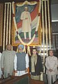 The Prime Minister, Dr. Manmohan Singh paid tributes to the Pandit Jawahar Lal Nehru on his 116th birth anniversary at Parliament House, in New Delhi on November 14, 2005.jpg