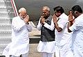 The Prime Minister, Shri Narendra Modi arrives in Chennai to pay homage to Kalaignar Karunanidhi, on August 08, 2018.JPG