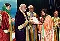 The Prime Minister, Shri Narendra Modi distributes the awards to students, at the 5th Convocation of Shri Mata Vaishno Devi University, at Katra, in Jammu and Kashmir (2).jpg