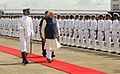 The Prime Minister, Shri Narendra Modi inspecting the Guard of Honour, at INS Hansa Naval Base, in Goa on June 14, 2014.jpg