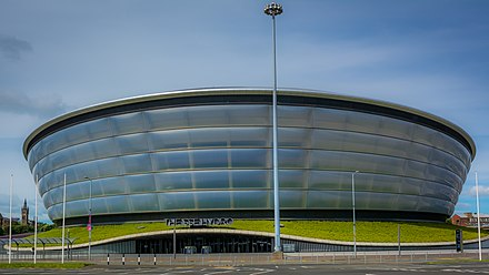 The SSE Hydro in Glasgow, venue in 2014 The SSE Hydro (geograph 5420681).jpg