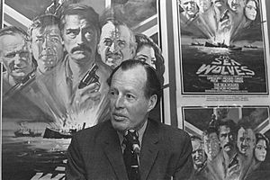 The Sea Wolves - The actual Lewis Henry Owain Pugh at a preview of The Sea Wolves (1980)