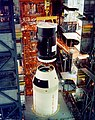 The Skylab space station is mated to a Saturn V rocket in the Vehicle Assembly Building on Sept. 29, 1972.jpg